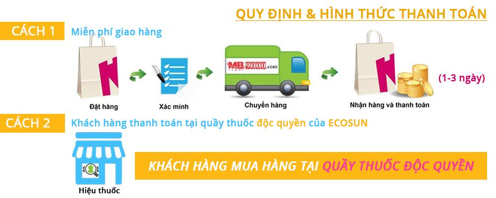 chính sách giao nhận Ecosun Pharma